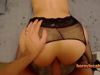 Horny MILF getting butt fucked for the first time