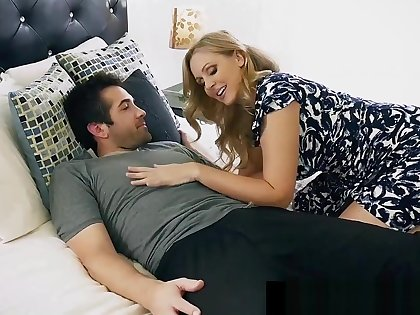 Step Mommy Julia Ann Opens Mouth For Step Son'_s Cum!