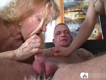 Married muff watches her hubby fucking a beauty