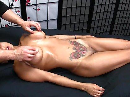 Sexy Exotic MILF Gets Erotic Oil Massage w/ Blowjob