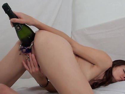 extreme pussy destruction slut bottle fucking