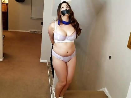 Vip bound and gagged, Struggling