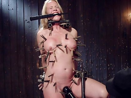 Nude busty mature hurt coupled with dominated in full clamping BDSM