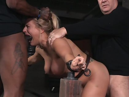 Angel Allwood's setting up is tested during hardcore BDSM session