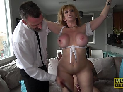 Naughty Sara Jay is more than happy upon please a man with an increment of be submissive