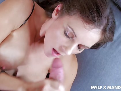 Super alluring and curvy MILF Mandy Flores just loves pretty cock into slit