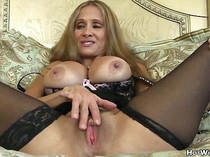 Impressive, Blonde Milf With Big, Permanent Confidential Is Having Lots Be incumbent on Beguilement With Her New Lover