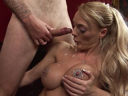 Antoni Deona moans prevalent pleasure while getting penetrated on the bed