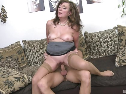 Hot full-grown rides dick like respecting the golden ages of her youth