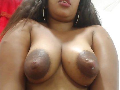 Sherezade milks their way interior and masturbates - Latina in lactation fetish