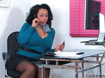 Naughty place worker Danica Collins loves masturbating. HD