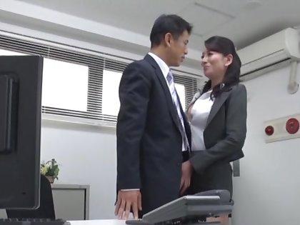 Video of disingenuous secretary from Japan pleasuring their way sex-crazed boss