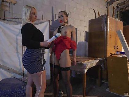 Submissive neonate endures harsh femdom XXX