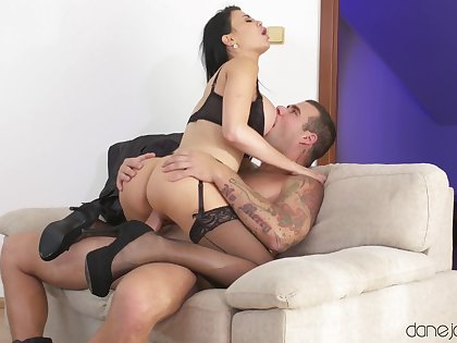 Slim brunette anal fucked like a whore