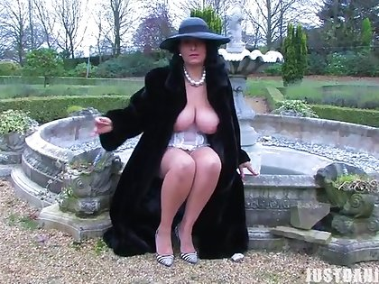 Outdoors video of large ass and tits MILF Danica Collins playing
