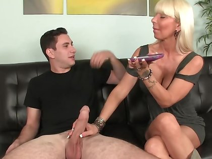 Simpleton is taken aback by mother-in-law who sucks his cock